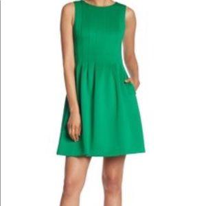 Max Studio Green Pleated Dress, Size S, EUC